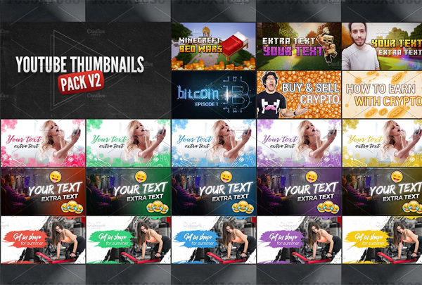 YouTube Thumbnails Bundle