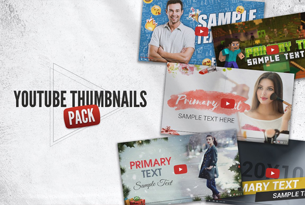 YouTube Thumbnail Templates Pack