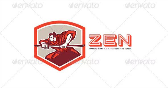 Zen Martial Arts and Swordplay School Logo