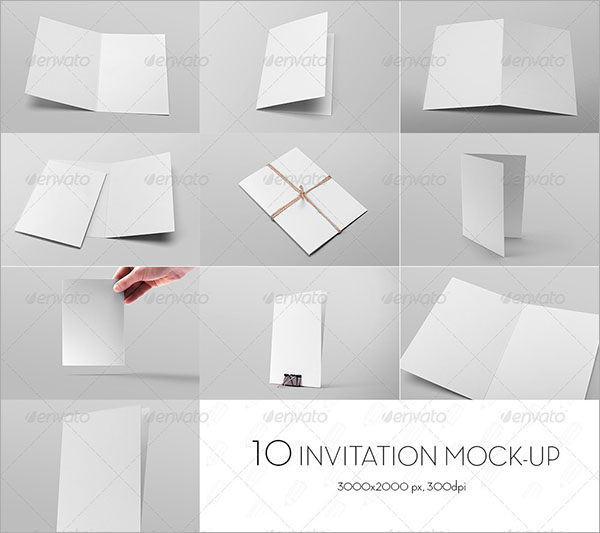 Invitation Card and Greeting Card Mock-up