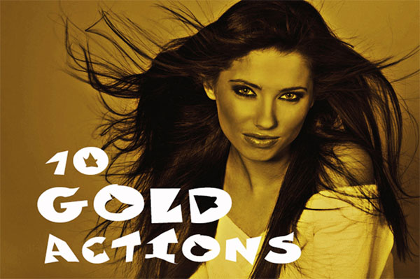 10 Gold Photoshop Actions