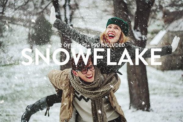 12 Snowflake Overlays
