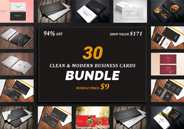 30 Business Cards Bundle