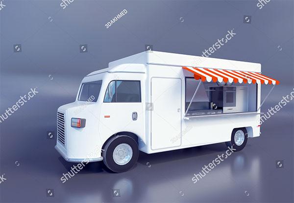 3D illustration Food Truck Design