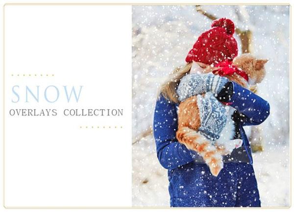 50 Snow Photo Overlays