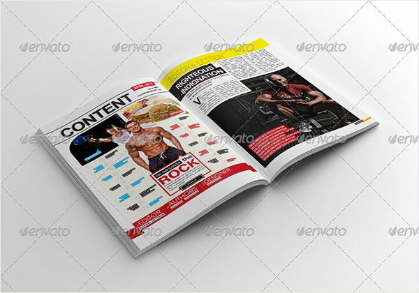 Body Mens Fitness Magazine A3 Cover Templates