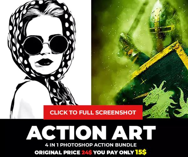 Action Art Photoshop Action Bundle
