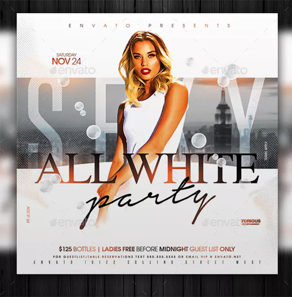 All PSD White Party Flyer Template