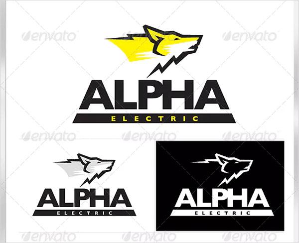 Alpha Wolf Electric Logo