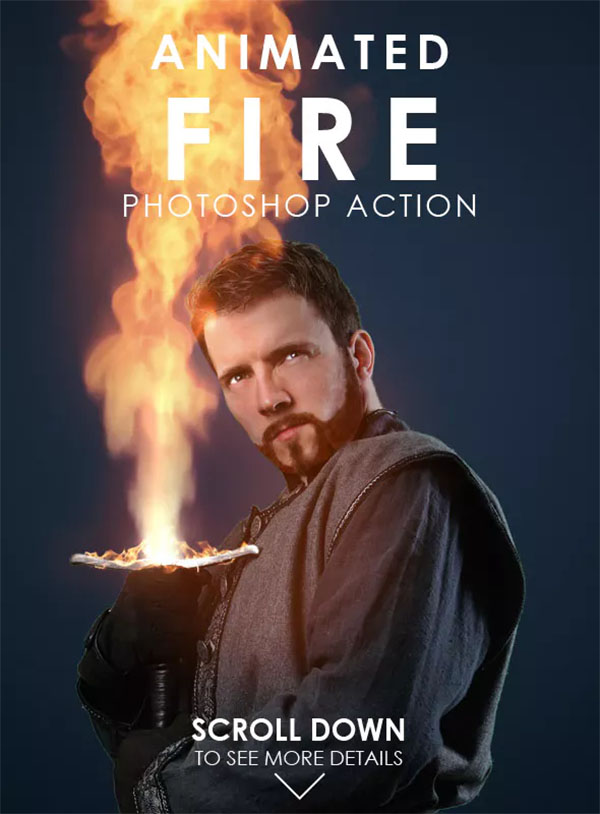 Animated Fire Photoshop Action