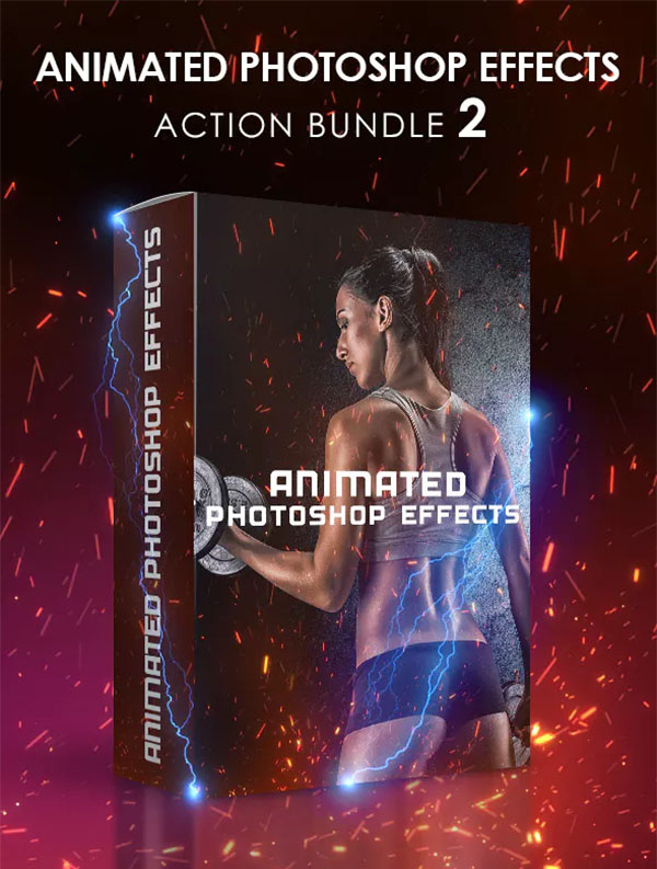 Animated Photoshop Effects Action Bundle