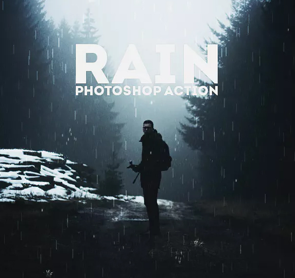 Animated Rain Photoshop Action