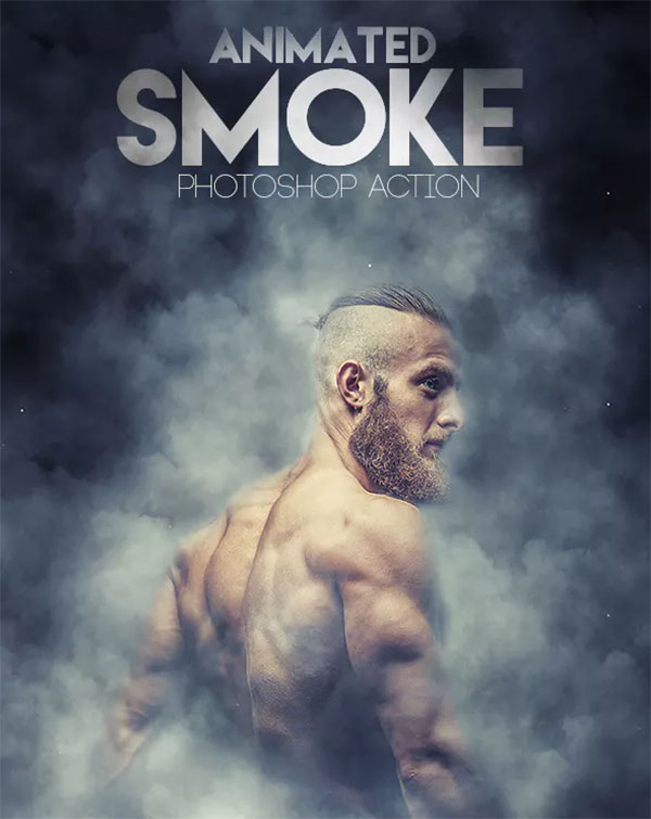 Animated Smoke Photoshop Action