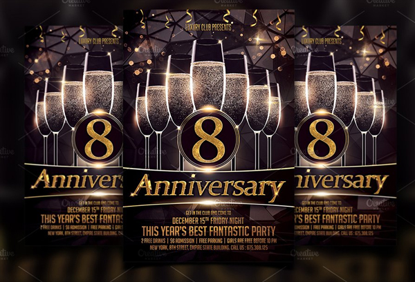 Anniversary Luxury Flyer Template
