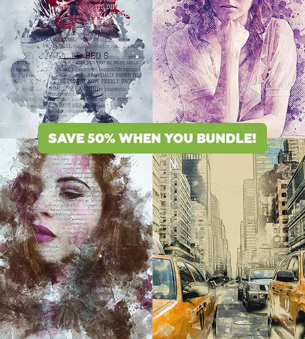 Artistic Actions Photoshop Bundle