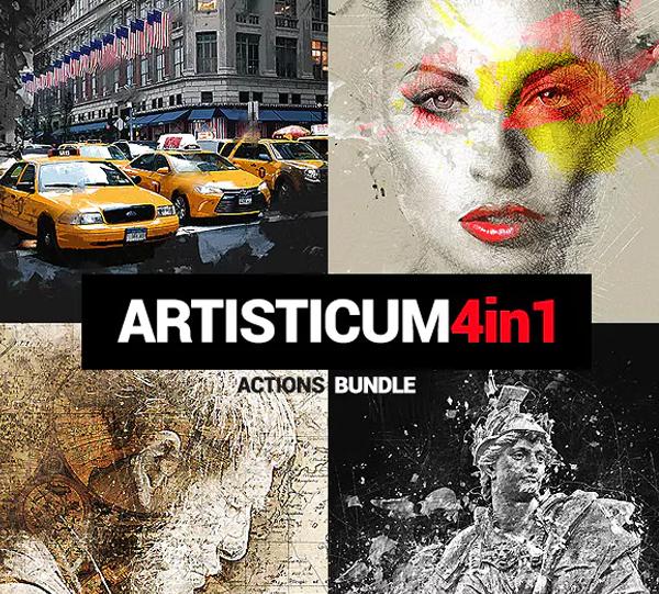 Artisticum PSD Actions Bundle