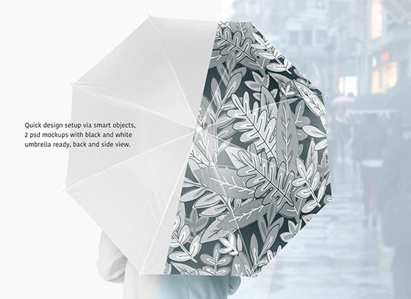 Beautiful Free Umbrella Mockup Set