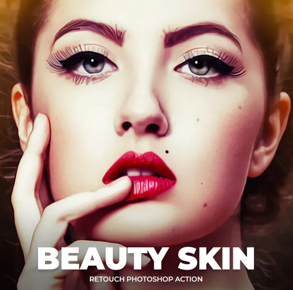 Beauty Skin Retouch Photoshop Action