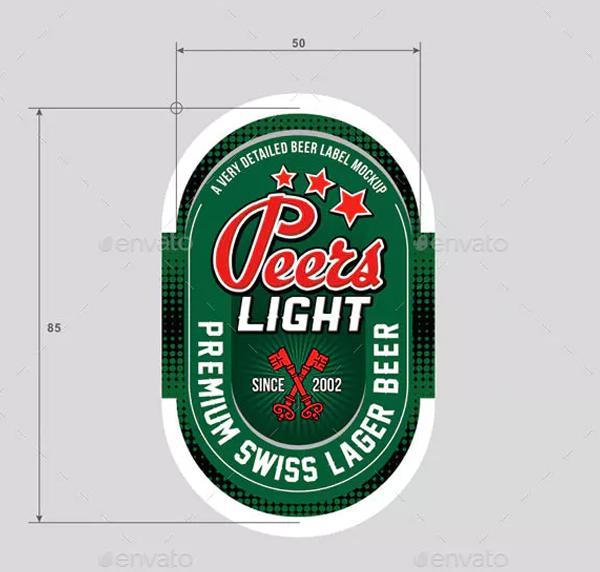 Beer Label Vector Template
