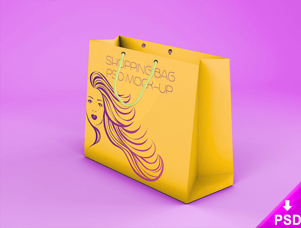 Best Free Shopping Bag Mockup in PSD Template