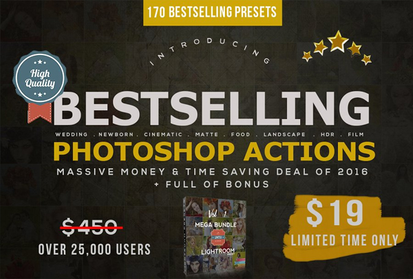 Bestselling Photoshop Actions