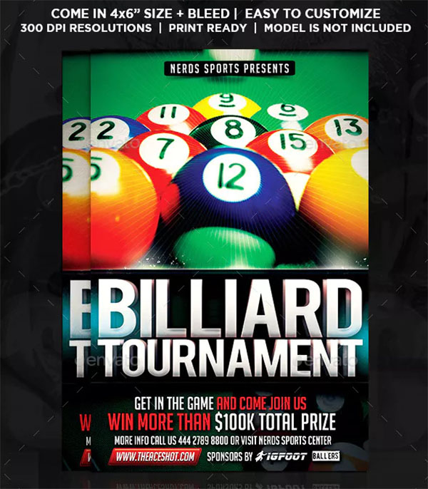 Billiard Competition Sport Flyer