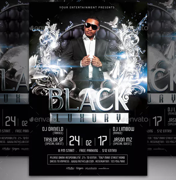 Black Luxury Flyer Template