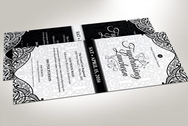 Black White Dinner Ticket