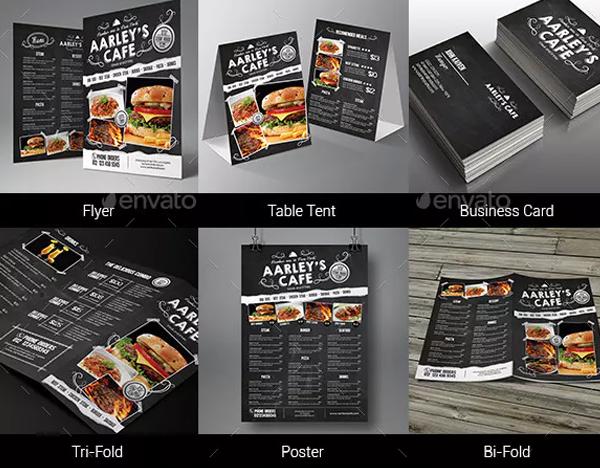 Blackboard Fast Food Menu Bundle