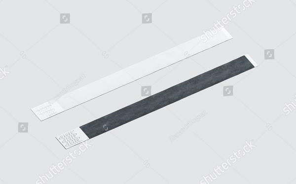 Blank Black and White Paper Wristband Mockup