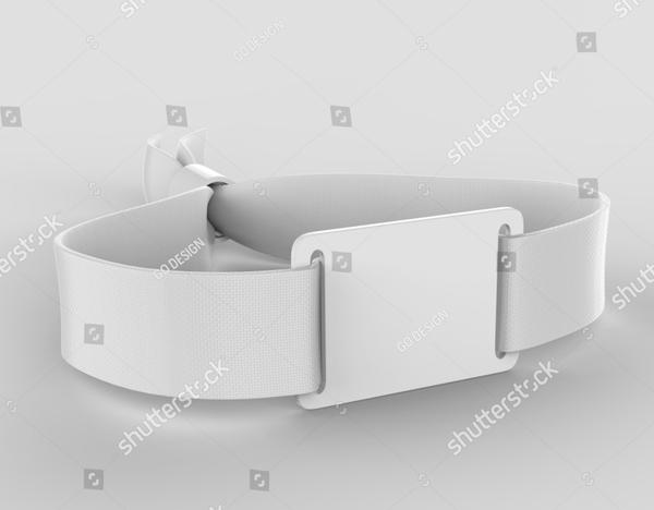Blank Fabric Wristband Mockup