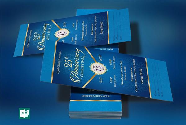Blue Anniversary Banquet Ticket