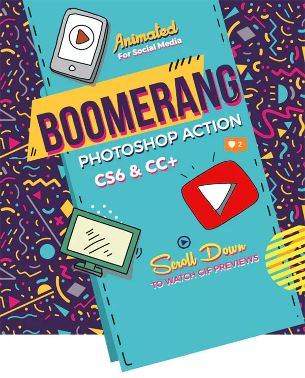 Boomerang Animated Photoshop Action