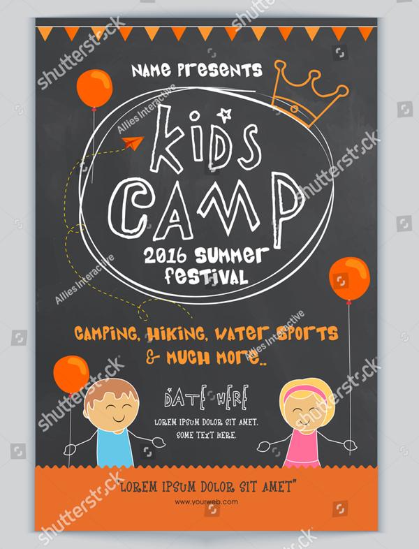 Chalkboard Kids Camp Flyer Template