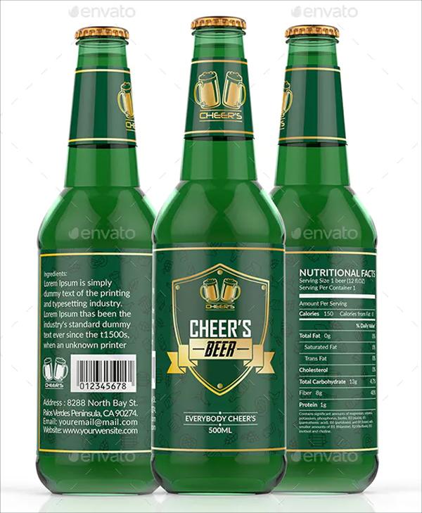 Cheer's Beer Label Template