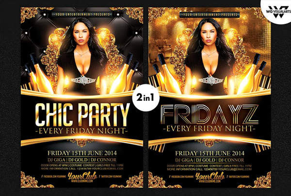 Chic Party Flyer Template