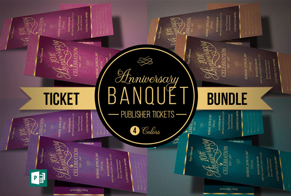 Church Anniversary Dinner Tickets Bundle