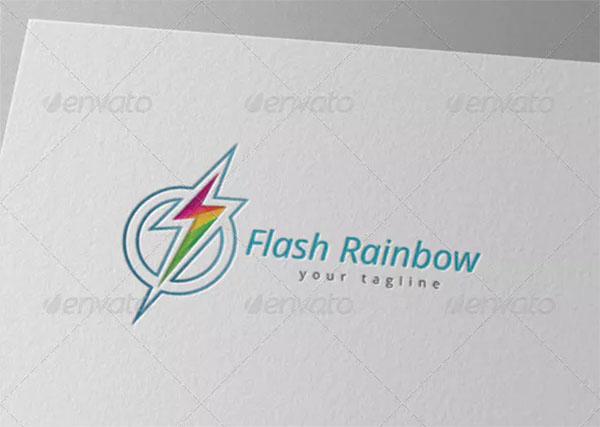 Circle Flash Electric Rainbow Logo