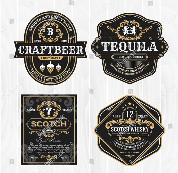 Classic Vintage Frame for Beer Labels