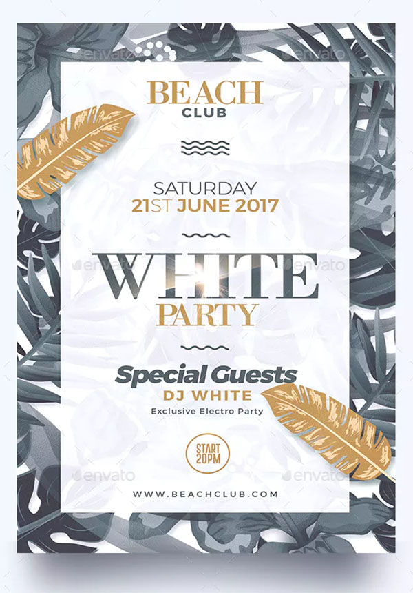 Classy White Party Flyer Template