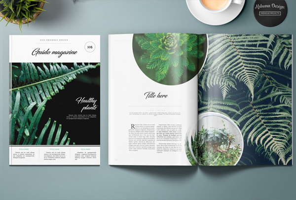 Clean Garden Magazine Template
