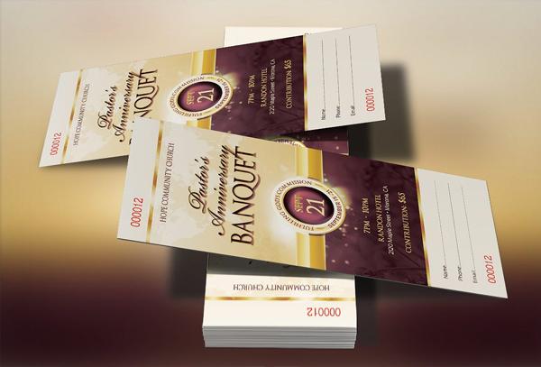 Clergy Banquet Ticket Design