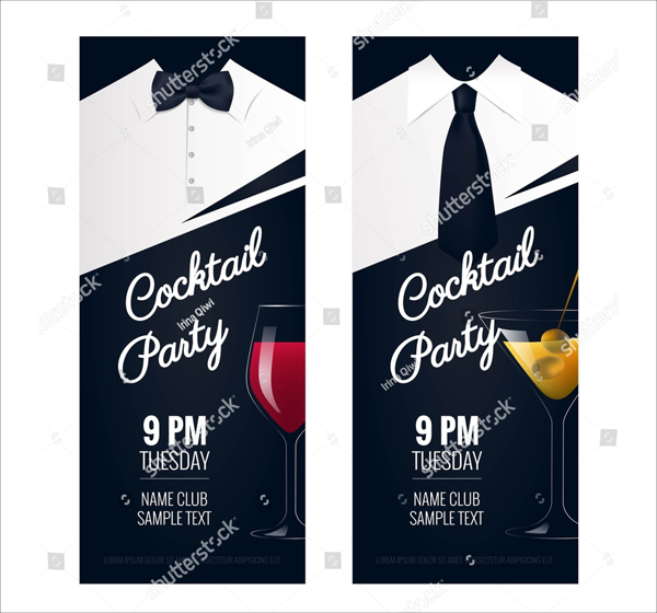 Cocktail Party Ticket Template