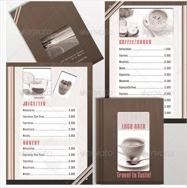 Coffee Menu A4 to A5