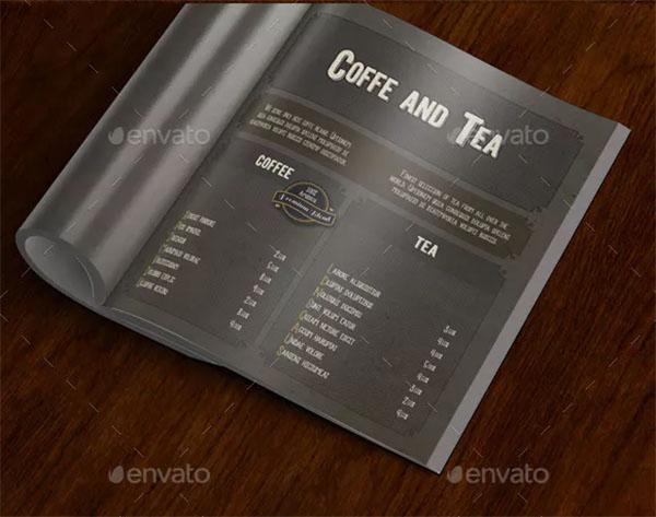 Coffee Shop Menu Template Design