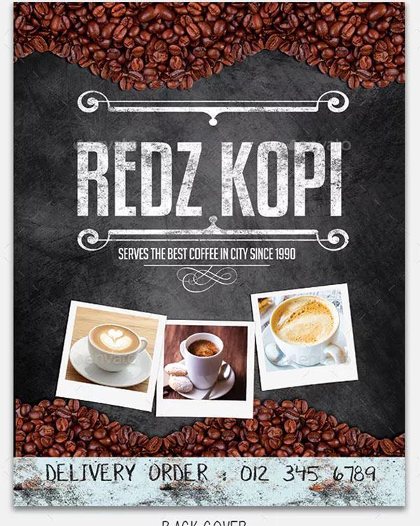 Coffee Shop Portrait Menu