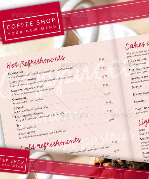 Coffee Shop and Restaurant Menu