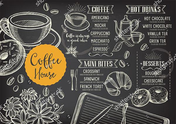 Coffee Vector Menu Template