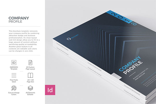 Company Profile 24 Pages Template