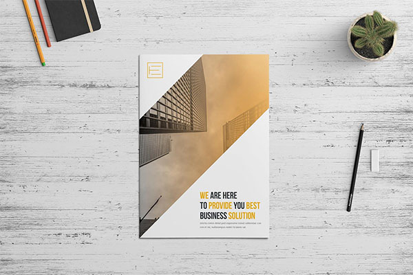 Company Profile Brochure Template PSD